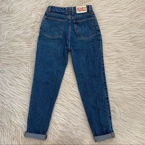 VTG Bongo Mom Jeans 90's dark wash denim hi rise
